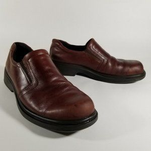 ECCO Dark Brown Leather Slip On Casual Loafers